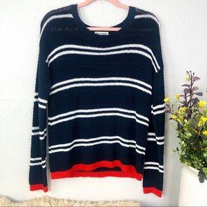 Artisan NY textured knit striped sweater oversized